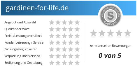 gardinen-for-life.de Bewertungen und Kundenmeinungen ...