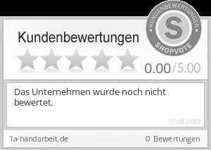 Shopbewertung - 1a-handarbeit.de