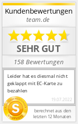 Shopbewertung - team.de