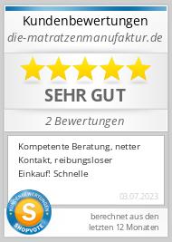 Shopbewertung - die-matratzenmanufaktur.de
