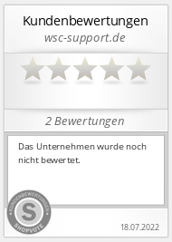Shopbewertung - wsc-support.de