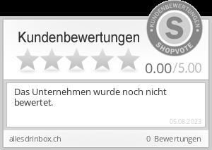 Shopbewertung - allesdrinbox.ch