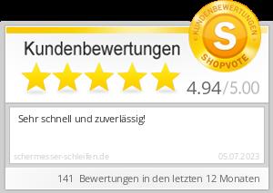 Shopbewertung - schermesser-schleifen.de