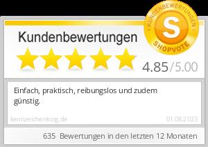Shopbewertung - kennzeichenking.de