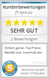 Shopbewertung - f1-tyre.eu