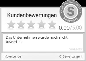 Shopbewertung - nfp-excel.de