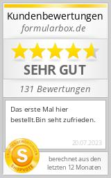 Shopbewertung - formularbox.de