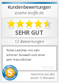 Shopbewertung - sinahe-stoffe.de
