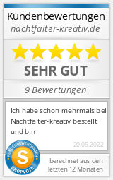 Shopbewertung - nachtfalter-kreativ.de
