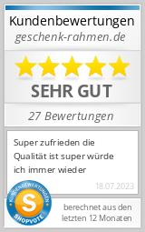 Shopbewertung - geschenk-rahmen.de