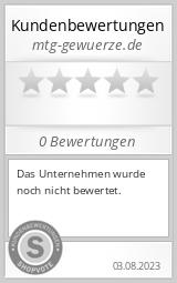 Shopbewertung - mtg-gewuerze.de