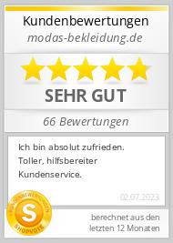 Shopbewertung - modas-bekleidung.de
