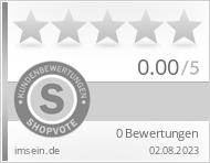 Shopbewertung - imsein.de
