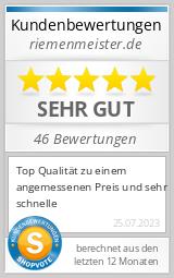 Shopbewertung - riemenmeister.de