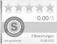 Shopbewertung - aus-gnade.de