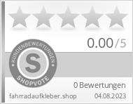 Shopbewertung - fahrradaufkleber.shop