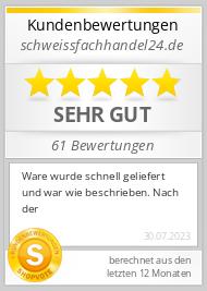 Shopbewertung - schweissfachhandel24.de