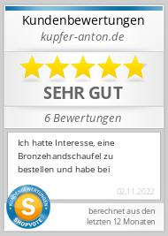 Shopbewertung - kupfer-anton.de