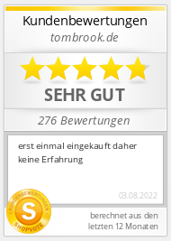 Shopbewertung - tombrook.de