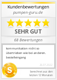 Shopbewertung - pumpen-guru.de