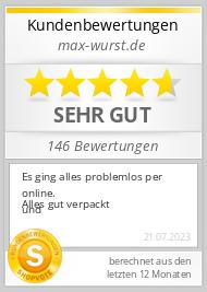 Shopbewertung - max-wurst.de