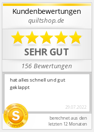 Shopbewertung - quiltshop.de
