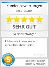 Shopbewertung - nice-4u.de