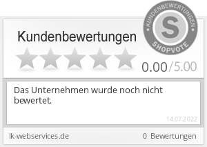 Shopbewertung - lk-webservices.de