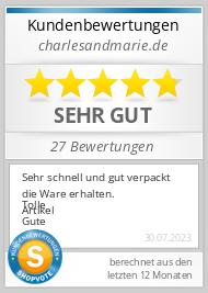 Shopbewertung - charlesandmarie.de