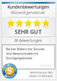 Shopbewertung - blizzard-geruest.de