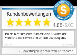 Shopbewertung - oligri.de