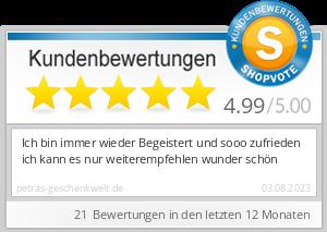 Shopbewertung - petras-geschenkwelt.de