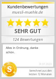 Shopbewertung - muesli-muehle.de