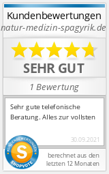 Shopbewertung - natur-medizin-spagyrik.de