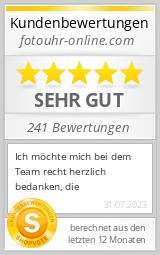 Shopbewertung - fotouhr-online.de