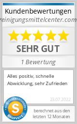 Shopbewertung - reinigungsmittelcenter.com