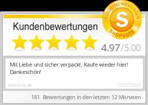 Shopbewertung - sonnlicht.de