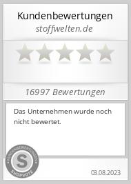 Shopbewertung - stoffwelten.de
