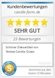 Shopbewertung - candle-farm.de