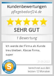 Shopbewertung - pflegebedarf24.de