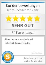 Shopbewertung - schraubenschrank.net