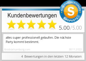 Shopbewertung - fotoboxhamburg.com