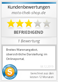 Shopbewertung - moto-thek-shop.de