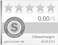 Shopbewertung - gabis-karten.de