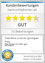 Shopbewertung - mein-schlafcenter.de