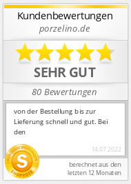 Shopbewertung - porzelino.de