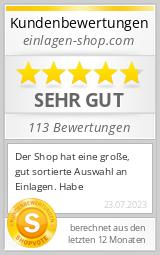 Shopbewertung - einlagen-shop.com