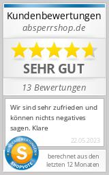 Shopbewertung - absperrshop.de