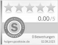 Shopbewertung - holgerspostkiste.de