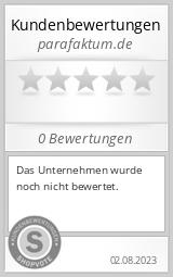 Shopbewertung - parafaktum.de